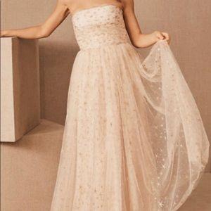 BHLDN Brenda Dress size 14 champagne color